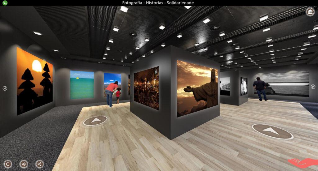 Tour 3D por exposição virtual   Foto: Divulgação