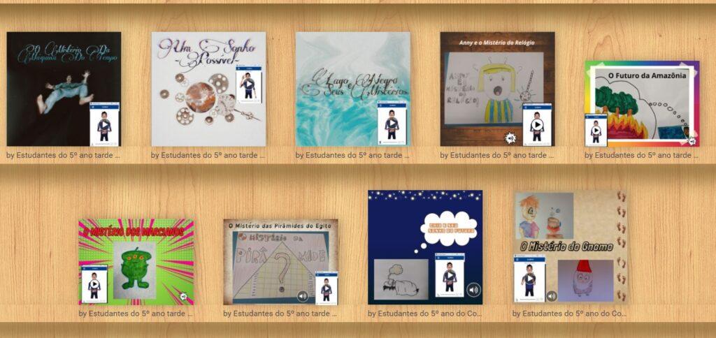 Biblioteca virtual criada por alunos do 5º ano   Imagem: Divulgação