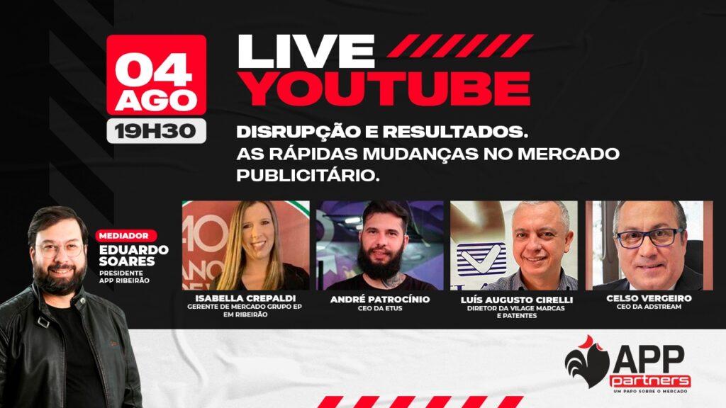 Primeira live do projeto APP Partners | Imagem: Divulgação