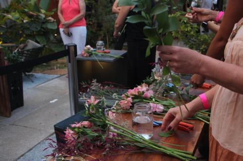 Flores usadas durante o workshop