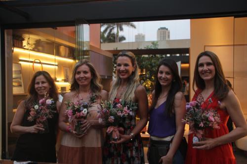 Claudia Bezzon, Elisa Cais, Marília Galhardo, Ana Boldrini e  Ana Paula Abraão