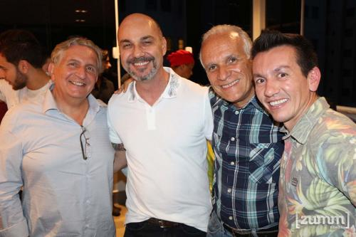 Gilberto Saber, Dimas Fausto, Marcelo Fernandes e Tom Osório