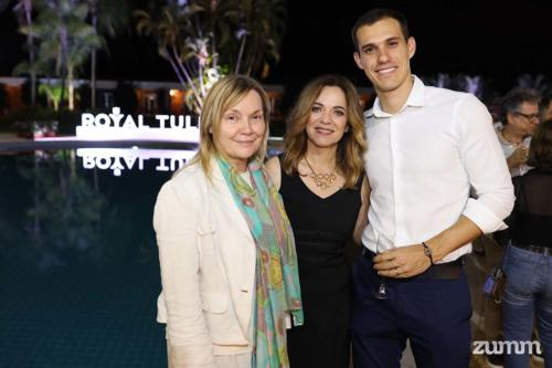 Angélica Fabbri, Tânia Fernandes Andrade e Daniel Chula