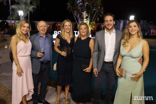 Luísa, José, Talita, Adriana, João Pedro e Nadielle Cury