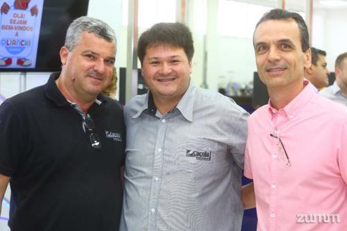 Donizete Caçola, Rodrigo Nacamite e Flávio Rahme Costa