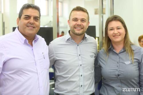 Eduardo Pazotti, Diego Gaio e Adriana Schneider