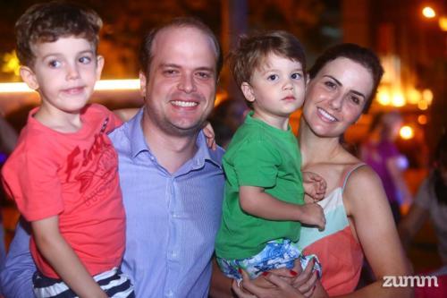 Fabio, Fábio, Felipe e Mariana Rivabem