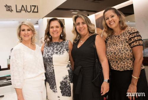 Mônica Benedini, Neusa Lauzi, Maria Silvia Barros e Elza Salles