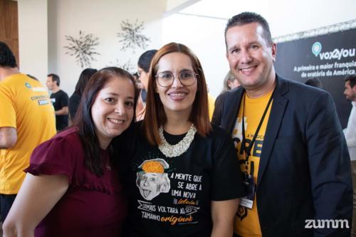 Daniela Florek, Ronia Azeredo e Frederico Teixeira