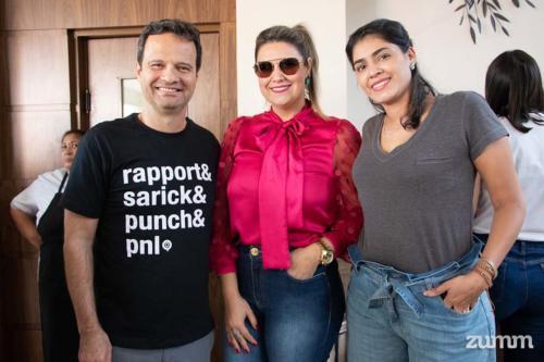 Mário Azevedo, Patrícia Fagundes e Alessandra Pesente