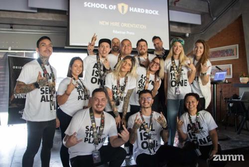 Participantes do treinamento do Hard Rock Cafe Ribeirão Preto