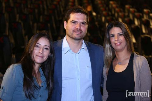Elida Reinaldo, Márcio Pena e Julianna Mattos