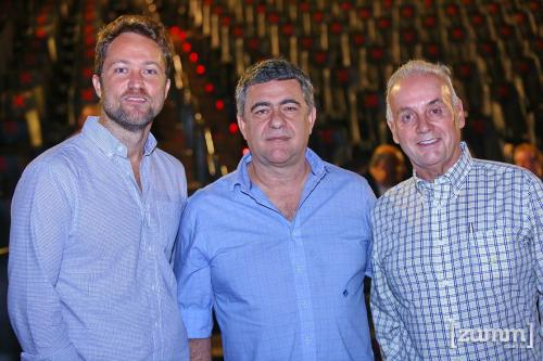 Fred Ambrósio, Ricardo Telles e Fernando Junqueira