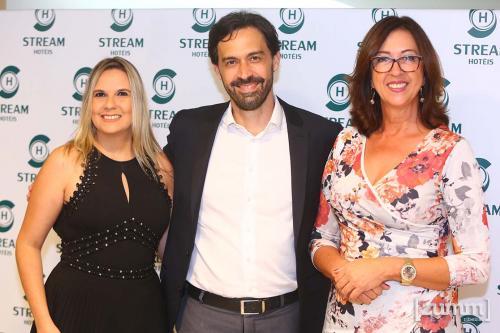 Daiane Matos, Marcelo Baratella e Rosimeire Zuccolotto