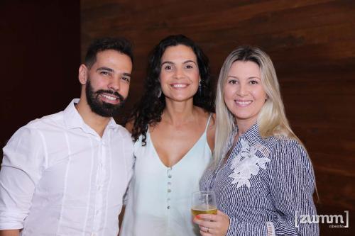 Eduardo Ribeiro, Luana Salgueiro e Janine Elmor