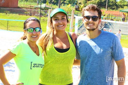 Eliane e Bella Haddad e Camilo Fontana