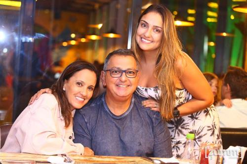 Eliane, Adilson e Bella Haddad