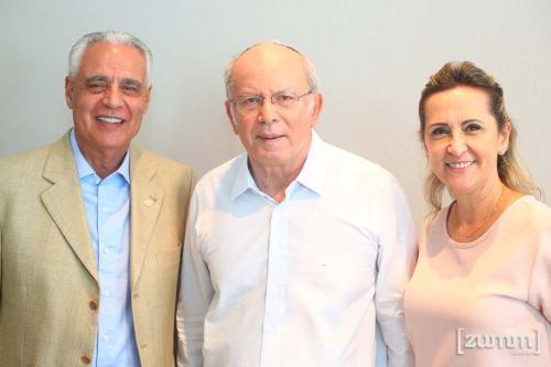 Dorival Balbino, Elie Horn e Silvia Balbino