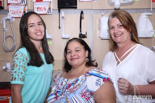 Juliana Costa, Maria Lima e Rosana Trochinski