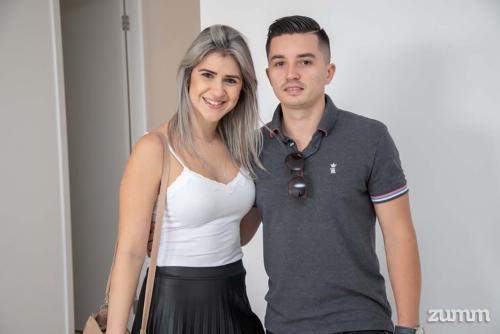 Emiliane Colmanetti e Diego dos Santos