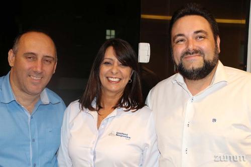 Paulo César de Mello Jr.,  Elaine Lara e Mateus da Silva Paula