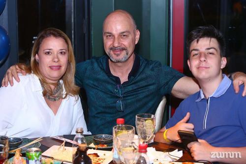 Fabiana Martins, Dimas Fausto e Felipe Laus