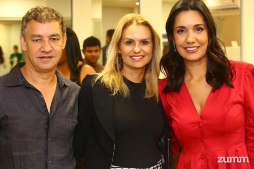 Carlos, Lucimar Machado e Renata Caparroz