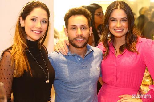 Isa Pretti, Edson Moraes e Isabela Toniello