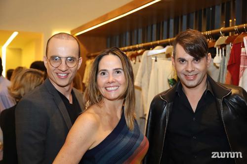 Henrique Araújo, Adriana Cury e Fabiano Correia