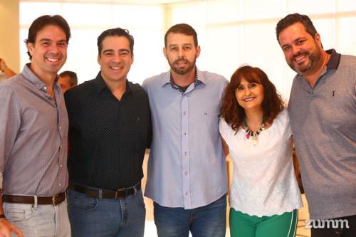 Rogério Dib, Paulo Scatena, Gustavo Molin, Ana Rita Balieiro e Rodrigo Vilaça