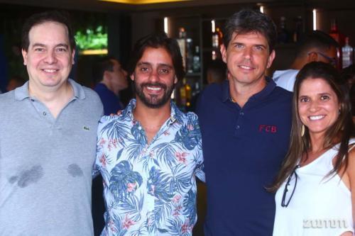 André Ignacio, André Cajuru, Fabrizio Cesar Passos e Claudia Paris