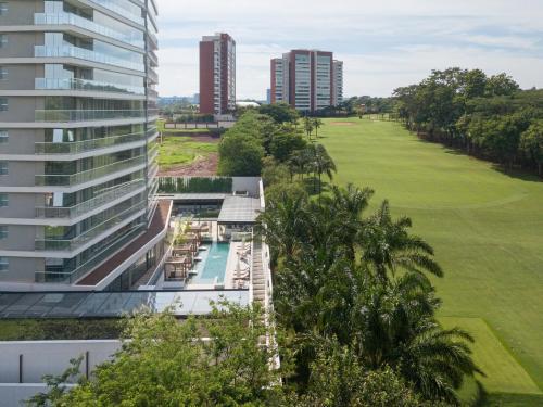 Foto real da vista permanente para o campo de Golf   Foto: Divulgação